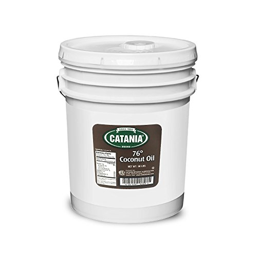 Coconut Oil Catania 76 Degrees - Organic, Tropical, NGP Verified, Kosher Certified Oil - 50 Lb