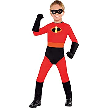 Party City Dash Halloween Costume for Boys Disney The Incredibles Small  4-6  Includes Mask and Gloves
