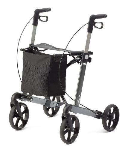 Rollator vital classic - Farbe: grau 62 cm