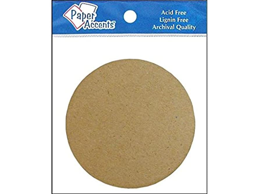 Accent Design Paper Accents Chipboard NAT Chpbrd Shapes Circle