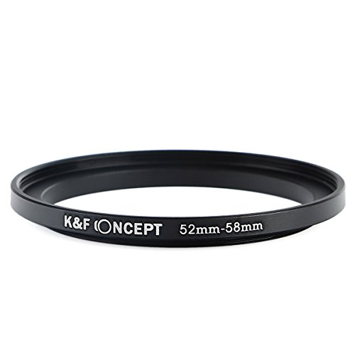 K&F Concept 52-58mm Step Up Anillo de Adaptador de Filtro 52mm a 58mm Metal Anillo de Adaptador para Nikon D5300 D5200 D5100 D3300 D3200 D3100 DSLR Cámaras