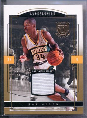 03-04 Skybox LE Ray Allen Jersey Gold Proof #/10 Celtic