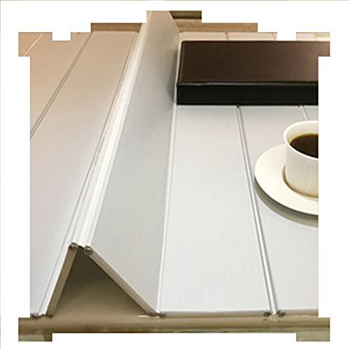 LIQICAI Plegable Cubierta Bañera, Prueba Polvo Bastidores Almacenamiento, Espesar 0,65 cm PVC Impermeable Bandeja Carrito Baño (Color : White, Size : 139cmx75cmx0.65cm)