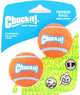 "Chuckit! Tennis Ball, 2 Pack, Orange/Blue, Small 2"""