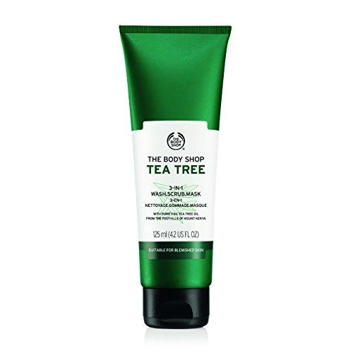 The Body Shop Tea Tree 3 in 1 Wash Scrub Mask, 125ml