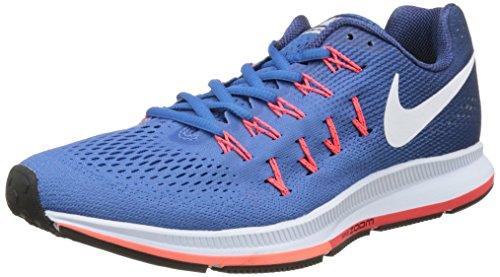 Nike Air Zoom Pegasus 33 Lauchuhe, Scarpe Running Uomo, Blu (Racer Blau/Midnight Navy Blau/Blau Glow/Weiß), 42 EU