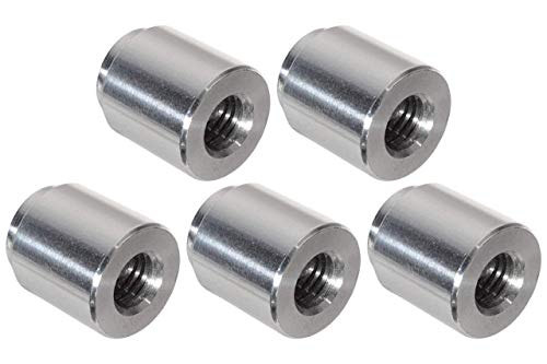 ICT Billet 5pc Aluminum M10-1.5mm Weld On Bung Female Nut Threaded Insert Weldable Metric 10mm 18.5mm (.74
