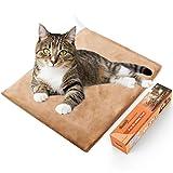 Bestio Pet Heating Pad Heated Dog Cat Mat Pet Bed Warmer MET Safety Certified Optimal Even Constant Temperature Heavy Duty Chew Resistant Cord Water Proof for Indoor Dog Cat (12``15.75``)