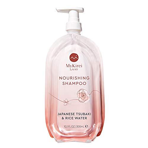 MyKirei by KAO Shampoo with Moisturizing Japanese Tsubaki amp Rice Water Paraben Free Formula for All Hair Types Cruelty Free and Vegan Friendly Sustainable Bottle 101 oz Pump