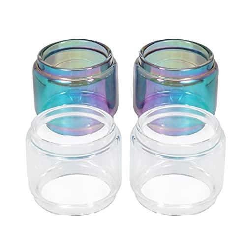 YiTenn Lot de 4 tubes de rechange en verre Pyrex pour réservoir GeekVape Zeus Sub Ohm (4 ampoules de 5 ml)