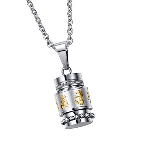 Homyl 1 Pieza Collar Colgante de Recuerdo Cilindro Urna Pequeña Abertible para Hombre Mujer