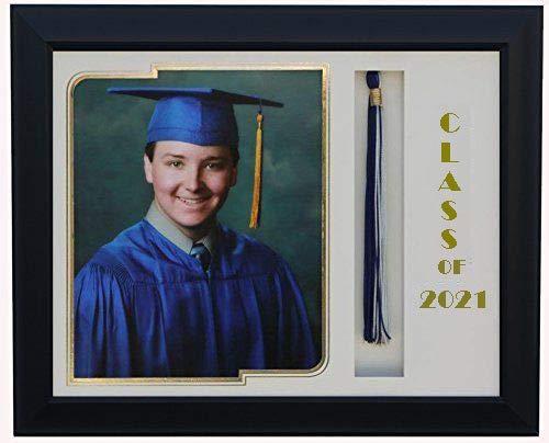 3art Graduation Tassel 8x10 Picture Frame Black/White 2020 (Customizable)