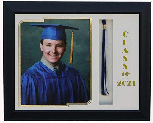 3art Graduation Tassel 8x10 Picture Frame Black/White 2020 (Customizable)