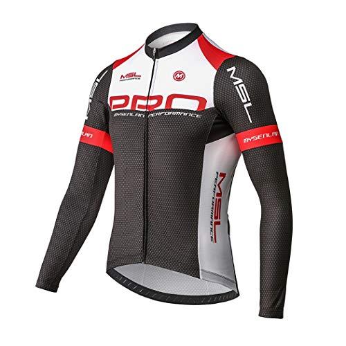 Mysenlan Maillot de Ciclismo Hombre Camiseta Manga Larga Jersey Ropa para Bicicleta...
