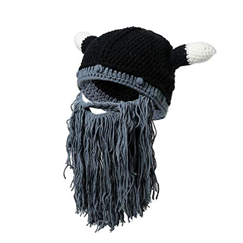 guangxichuangshengxinfu Spiritueller Winter Trendy Warm Knit Baggy Slouch Chunky Soft Unique Cap(None GY)