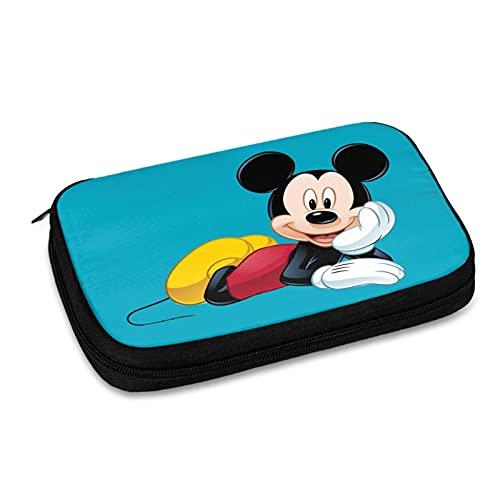 ミッキーマウス データケーブル収納袋、軽量収納袋、大容量収納袋、携帯収納ボックスは、家庭、旅行、収納、電源、ペン、携帯電話、充電器、ケーブルに使用でき、サイズは幅24×17×高さ2.5cm.
