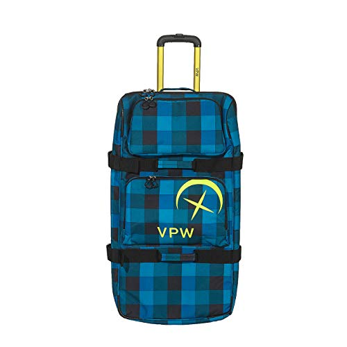 VÖLKL Performance WEAR Reisetasche Koffer Trolley Rolling Duffle Denim Check (120 Liter)