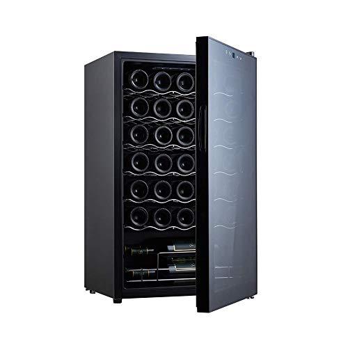CHENMAO Termoeléctrica Enfriador de Vino, Constant refrigerador de 34 Botellas de Pantalla táctil LCD de visualización 5-18 ℃ Consumo doméstico de energía Baja Silencio Pequeño refrigerador de Vino