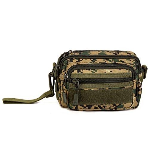 Unistrength Tactical Utility Molle Pouch Handtasche Outdoor Casual Messenger Bag Military Taille Gürteltasche Pack Wallet Handy Tragetasche, Unisex, Dschungeltarn