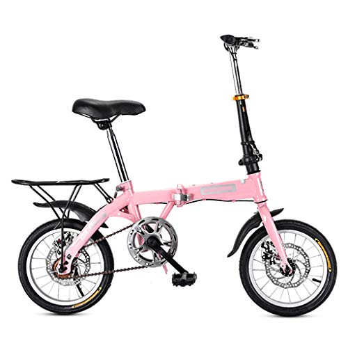 ZDXC Mini Folding Bicycle Road Bike Adult Male Female Student Bicycle City Bike Lightweight Bike (Size : 14 Inch / 16 Inch / 20 Inch)