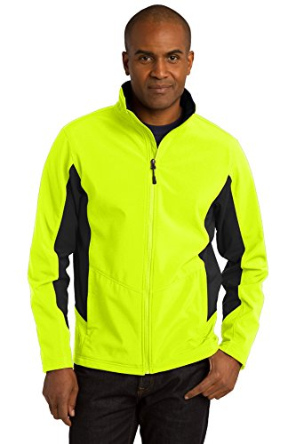 Port Authority® Core Colorblock Soft Shell Jacket. J318 Safety Yellow/Black M