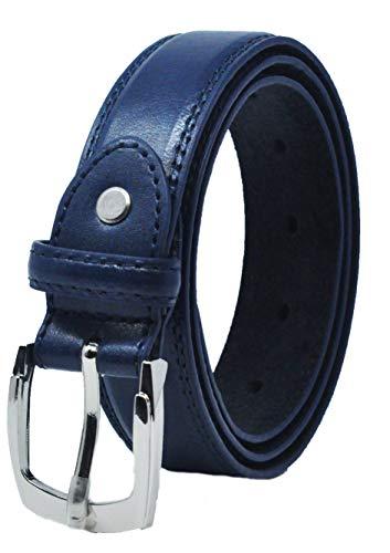 Ossi forrado en piel de 28 mm de cinturón para niños - Azul oscuro 2XS (60cm - 70cm de cintura)