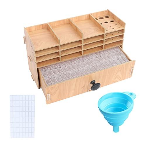 Oshhni Contenedor de Cuentas de arroz multifunción, Caja de Almacenamiento de plástico con Pintura de Diamantes para el hogar, contenedor de Almacenamiento, Estante de Almacenamiento n. ° 3