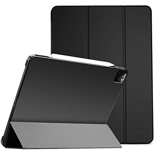 ProCase iPad Pro 11 Case 2020 & 2018, Slim Hard Shell Protective Stand Cover for iPad Pro 11 2nd Gen 2020 (Latest Model) & 1st Gen 2018 [Support 2nd Gen Apple Pencil Charging] -Black