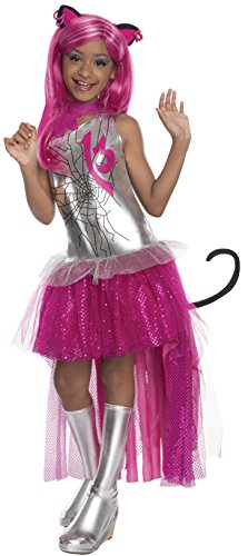Rubies - Disfraz para nia con diseo Monster High Catty Noir, talla L (3610070)