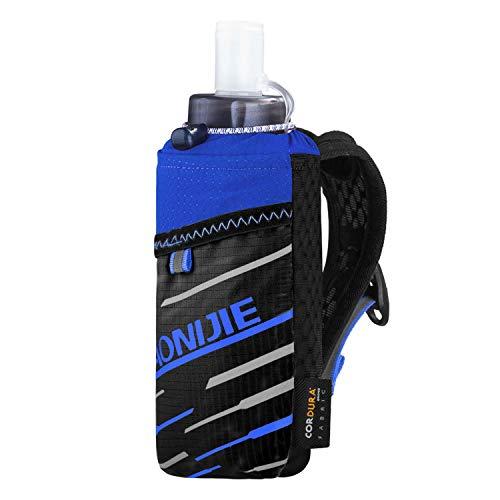 AONIJIE Hand-Trinkflasche, 400 ml, weiche Wasserflasche, passend für 17,3 cm große Handys, ideal zum Laufen, Wandern, Radfahren, Klettern und für Outdoor-Aktivitäten