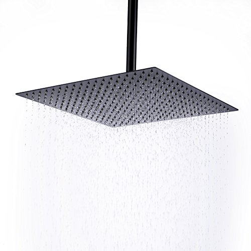 Hiendure 16 Inch Rainfall Square Stainless Steel Shower Head,Oil Rubbed Bronze