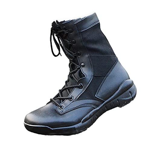 Ultralight Uomo Militare Stivali Combattimento tattico Stivaletti Deserto/Jungle Stivali Outdoor Escursionismo Scarpe, Stivali da combattimento, 43 EU