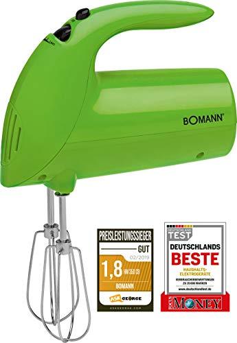 Bomann HM 350 CB Batidora de Varilla Especial repostería, 5 velocidades, Verde, 250 W, Plástico