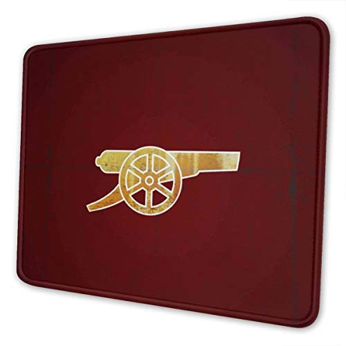 Arsenal Fc The Gunners Gaming Mouse Pad with Stitched Edge Premium-Textured Mat Non-Slip Rubber Base for Desktop Laptop Computers Keyboard Office 10×12 Inches