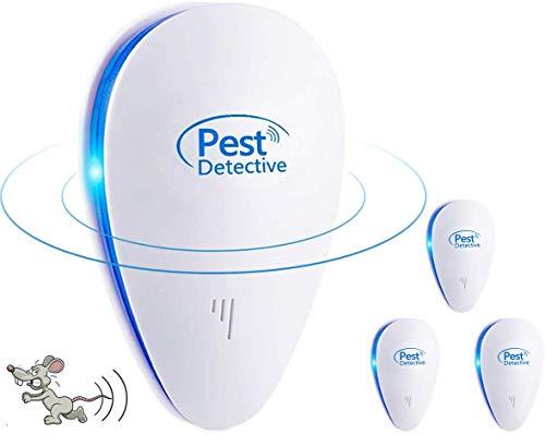 Nitoer Repelente Ultrasónico de Plagas 2020 Ahuyentador de Ratones Ultrasonidos - Repelente Ultrasónico Mosquitos Cucarachas Antimosquitos Eléctrico Insectos Ratas Moscas Arañas Hormigas