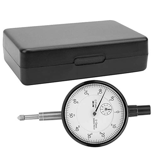 Dial Indicator, 0.01MM Accuracy 0-10MM Range Shockproof Dial Indicator Gauge for Measuring the Shape and Position Error of the Workpiece