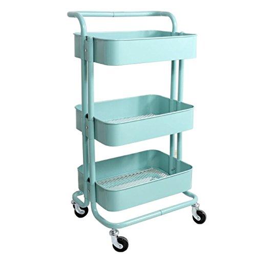 &étagère de rangement Étagères Mobile Petit Push Storage Rack Accueil Étagère Cuisine Salon Étagère Rack de finition