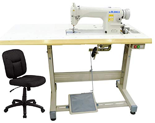 Industrial Sewing Machine Juki DDL-8100 Lockstitch Sewing Machine with Ergonomic Chair + Servo Motor + Table Stand Cut Juki DDL8700 Combo + LED Lamp Commercial Grade Sewing Machine