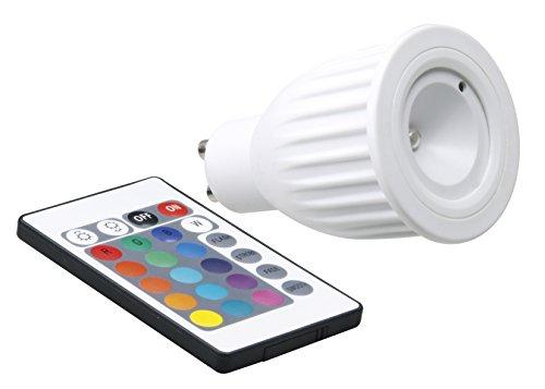 Xq-Lite Ampoule LED PAR16 GU10, 3W, 70 Lumen, RGB à Couleur changeante + Télécommande