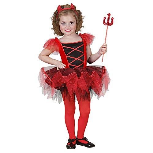 Widmann kinderkostuum ballerina duifelin 110 zwart/rood