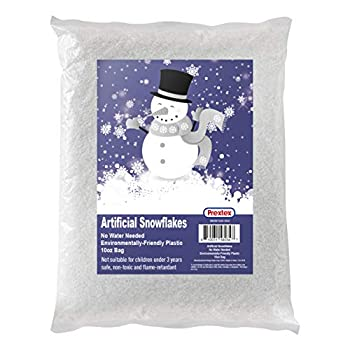 Artificial Snow 10 Ounces Fake Snow Flakes for Christmas Tree Decoration Village Displays - Sparkling White Dry Plastic Snowflakes for Holiday Decor and Winter Displays