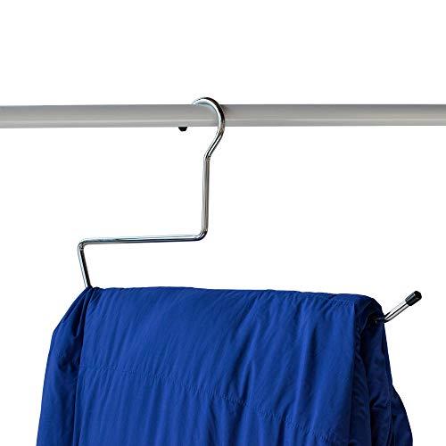 "NAHANCO 201NOTAIL19 19"" Heavy Duty, Blanket, Sleeping Bag, Quilt Hanger, Steel with Non Slip Coating (Pack of 12)"