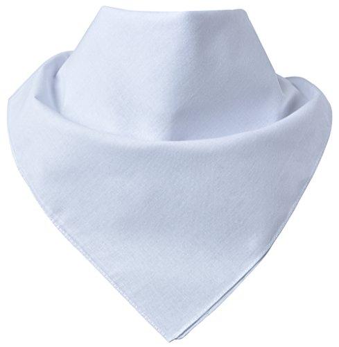 Miobo - Bandana/foulard da collo, 100% cotone, taglia unica uni bianco M