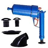 Herramientas para desatascar desagües de inodoro con desintegrador de drenaje de aire de alta presión para trabajo pesado Potente bomba de émbolo para inodoro, fregadero, bañera, etc. Herramienta de