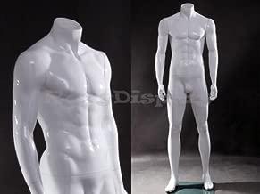 (MZ-wen4bw) Male mannequin, headless, standing pose.