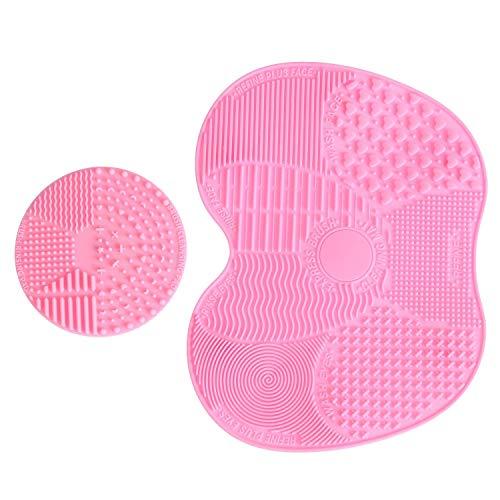 LEADSTAR 2 Pack Brosse Nettoyante Pinceau en Silicone, Outil Tapis de Nettoyage pour Pinceaux de Maquillage (Rose )