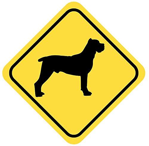 Samunshi® Cane Corso Warnschild Warndreieck Aufkleber Achtung Vorsicht Hund in 8 Größen (20x20cm Mehrfarbig)
