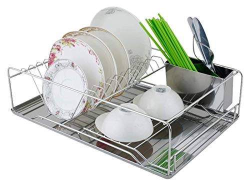 miwaimao Escurridor de cocina de acero inoxidable grande para cocina | escurreplatos con bandeja | Estante de almacenamiento de cocina | Secador de cubiertos | Acero inoxidable 304 1130