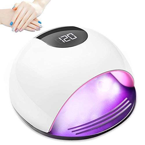 Fornetto Unghie LED, Aiemok 72W Gel Led Lampada Semipermanente Portatile Macchina Gel Unghie Smalto con luce UV Automatico Sensore, Timer