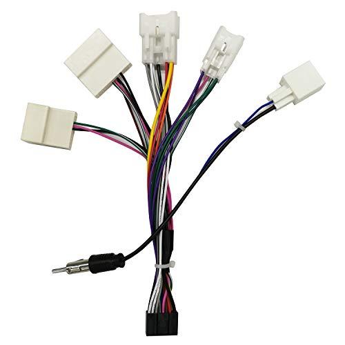 ANKEWAY Adaptador para Radio de Automóvil Android, Solo para Conectores ISO Macho...